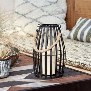 Canberra Slatted Outdoor Lantern with TruGlow® Candle