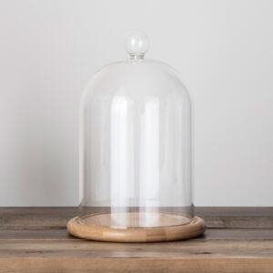 Large Glass Dome Bell Jar 23cm