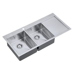 The 1810 Company ZD/3434/IF/U15/S/BBL/158 Zenduo 2 Bowl Sink - Stainless Steel