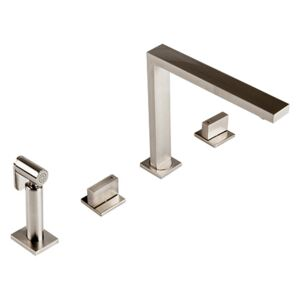 The 1810 Company NOV/02/BS Mononloc Tap and Pull Out Hand Spray - Brushed Steel