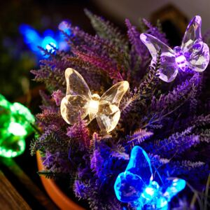10 Multi Coloured Butterfly Micro Fairy Lights