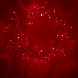 Core Connect 20m 200 Red Connectable Fairy Lights Clear Cable
