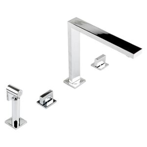 The 1810 Company NOV/01/CH Mononloc Tap and Pull Out Hand Spray - Chrome