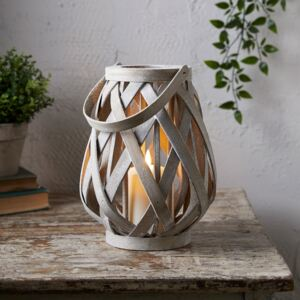 Woven Wooden Lantern with TruGlow® Candle