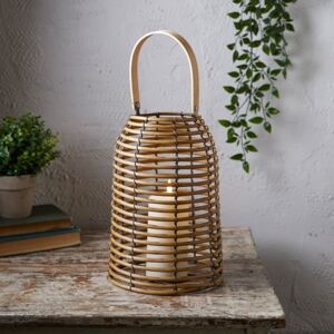 Rattan Wooden Lantern with TruGlow® Candle