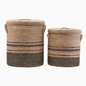 Seagrass & Jute Laundry Baskets by House Doctor - Small