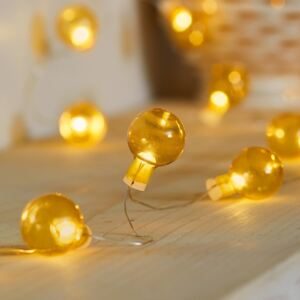 50 Amber Bauble Micro Fairy Lights