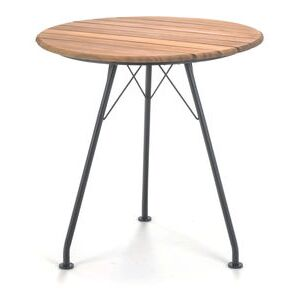 Circum Round table - / Metal & bamboo - Ø 74 cm by Houe Black/Natural wood