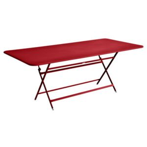 Caractère Foldable table - 90 x 190 cm by Fermob Red