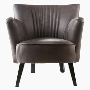 Ritz Club Chair in Vintage Grey Leather - Default Title