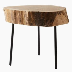 Wild Oak Side Table in Natural White Finish - Default Title