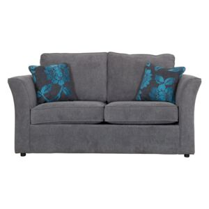 Buoyant Newry Sofa Bed, 2 Seater Sofa Bed with Standard Mattress, Lush Chocolate, Lily Teal