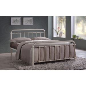 Time Living Miami Metal Bed Frame, Double, Ivory