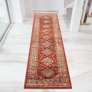 Red Traditional Kilim Living Room Rugs | Milan