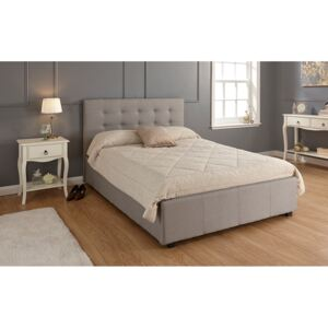 GFW Regal Grey Fabric Ottoman Bed, Double