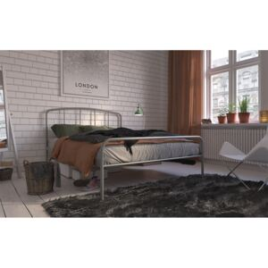 Hove Metal Bed Frame, Double, Grey