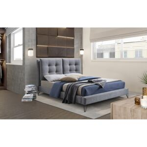 Time Living Tuscany Grey Fabric Bed Frame, Double