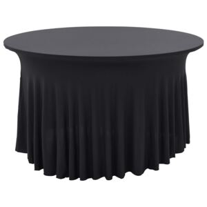 VidaXL 2 pcs Stretch Table Covers with Skirt 120x74 cm Anthracite