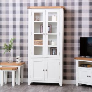 Hampshire White Painted Oak Glass Display Cabinet
