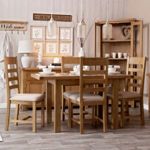 Winchester Oak 1.0m Butterfly Extending Dining Table