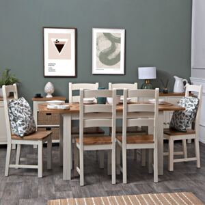 Salisbury Ivory Painted Oak 1.2m Butterfly Extending Dining Table