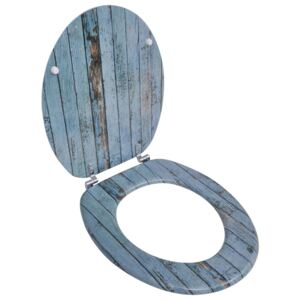 Toilet Seat with MDF Lid Old Wood Design