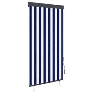 VidaXL Outdoor Roller Blind 80x250 cm Blue and White