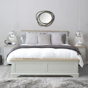 Ashbourne Grey Painted Double Bed Frame