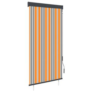 Outdoor Roller Blind 80x250 cm Yellow and Blue