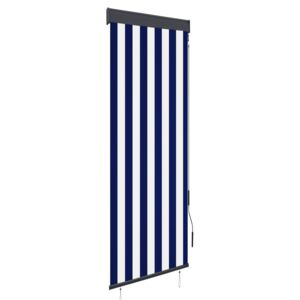VidaXL Outdoor Roller Blind 60x250 cm Blue and White