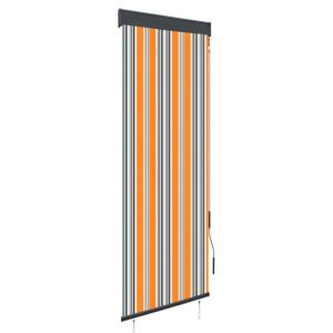 Outdoor Roller Blind 60x250 cm Yellow and Blue