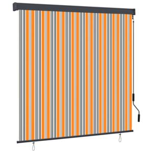 Outdoor Roller Blind 160x250 cm Yellow and Blue