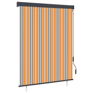 Outdoor Roller Blind 140x250 cm Yellow and Blue