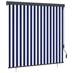 VidaXL Outdoor Roller Blind 160x250 cm Blue and White