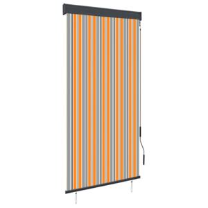 Outdoor Roller Blind 100x250 cm Yellow and Blue