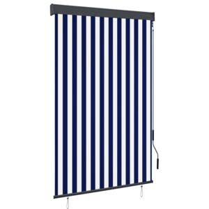 VidaXL Outdoor Roller Blind 120x250 cm Blue and White