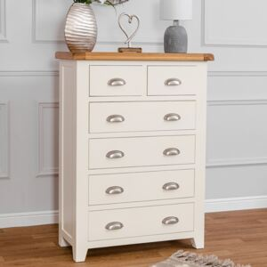 Hampshire Ivory Painted Oak 2 Over 4 Chest
