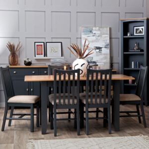 Gloucester Midnight Grey Painted 1.6m Extending Dining Table