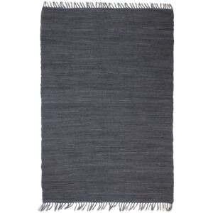 Hand-woven Chindi Rug Cotton 80x160 cm Anthracite