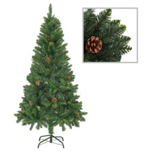 Artificial Christmas Tree with Pine Cones Green 150 cm