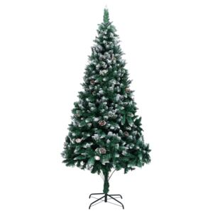 VidaXL Artificial Christmas Tree with Pine Cones and White Snow 240 cm