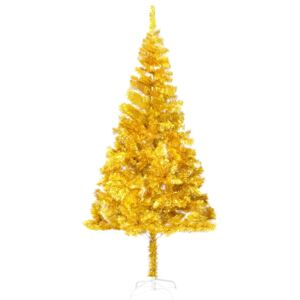 VidaXL Artificial Christmas Tree with Stand Gold 180 cm PET