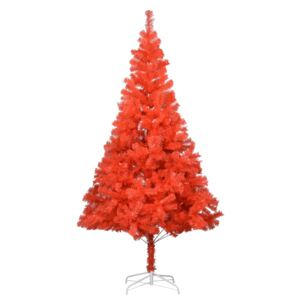 Artificial Christmas Tree with Stand Red 210 cm PVC