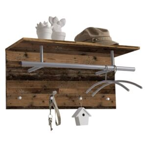 FMD Wall-mounted Coat Rack 72x29.3x34.5cm Old Style Brown