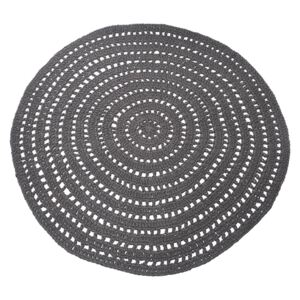 LABEL51 Carpet Knitted Cotton Round 150 cm Anthracite