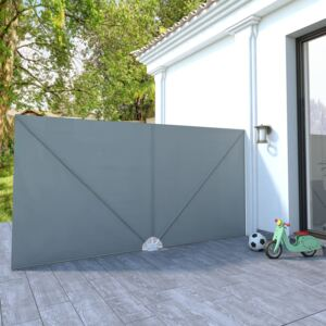 VidaXL Collapsible Terrace Side Awning Grey 400x200 cm