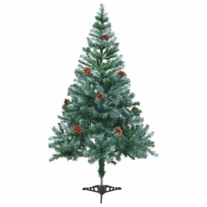 Frosted Christmas Tree with Pinecones 150 cm
