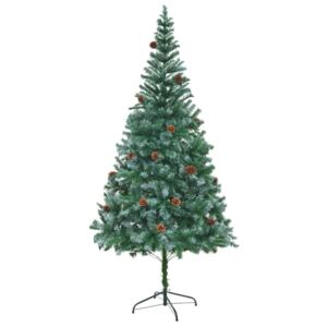 Artificial Christmas Tree with Pinecones 210 cm