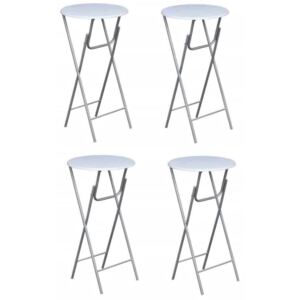 Bar Tables 4 pcs with MDF Tabletop White