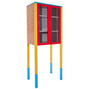 Cabinet D'Antibes Dresser by Memphis Milano Blue/Yellow/Red